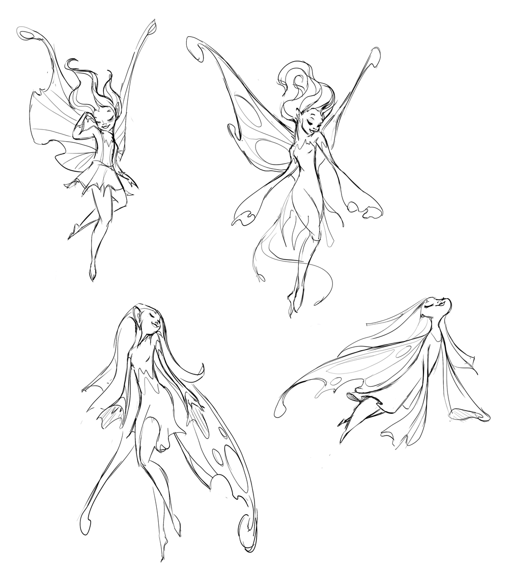Sleep fairy sketches