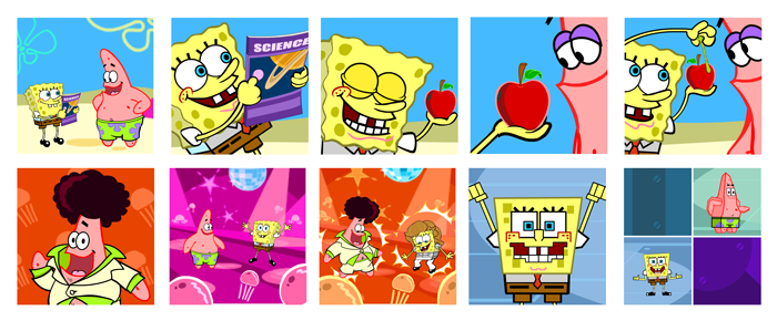 """""""SpongeBob SquarePants Through the Wormhole"""" game for Leapfrog's Leapster"""